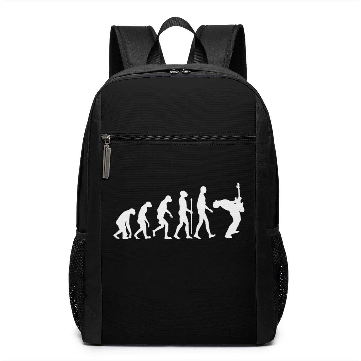 Classic-Backpack-Evolution-Of-A-Rock-Guitarist-Durable-Backpack-17-Inch-For-Women--Men